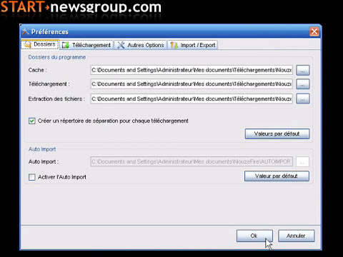 START-newsgroup - NiouzeFire - Tutorial