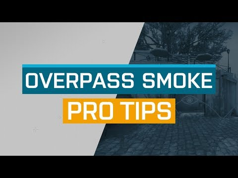 CS:GO - ProTips: Overpass - Bathrooms Smoke