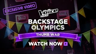 Backstage Olympics: Thumbwars | The Voice Kids Australia 2014