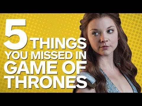 5 Things You Missed In Game Of Thrones (spoilers) video