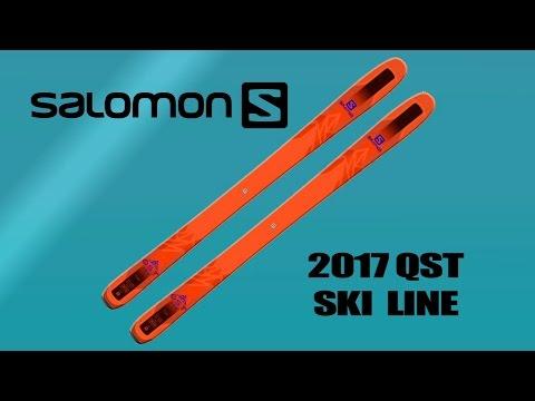 The New 2017 Salomon QST Ski Line Video Ski Review