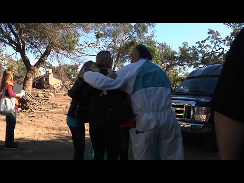 Raw: Emotional Residents Return to Mudslide Area