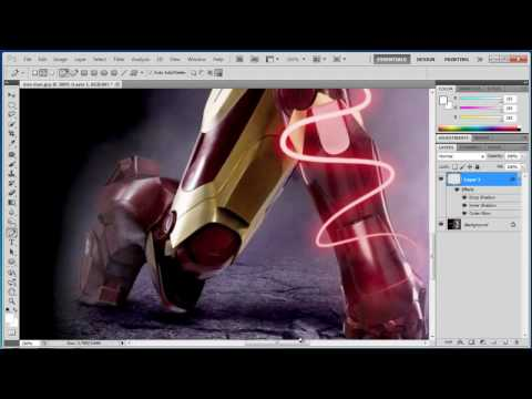 0 Photoshop CS5   Shiny Glowing Lines   Tutorial