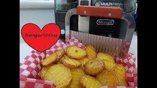 CRINKLE WAVY FRIES 'WANNA BE WAFFLE FRIES' AIR FRYER