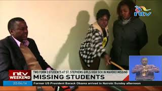 Two form 3 students at St.Stephens girls high school in Mavoko constituency  missing