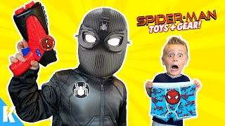 Spider-man Far From Home Movie Gear Test and Toys Scavenger Hunt for Kids! KIDCITY