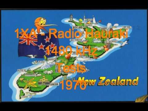 NZ Radio - 1XA - Radio Hauraki - 1480 kHz - Tests - 1970