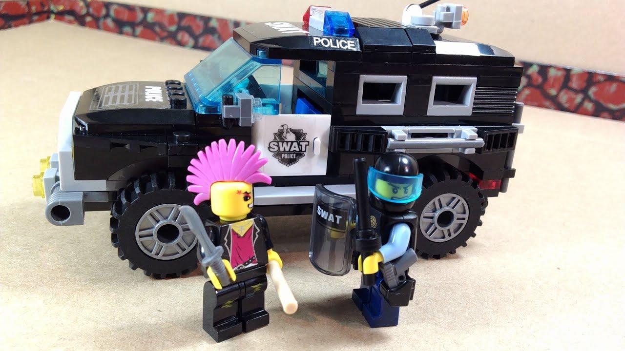 Как из лего сделать полицейский джип