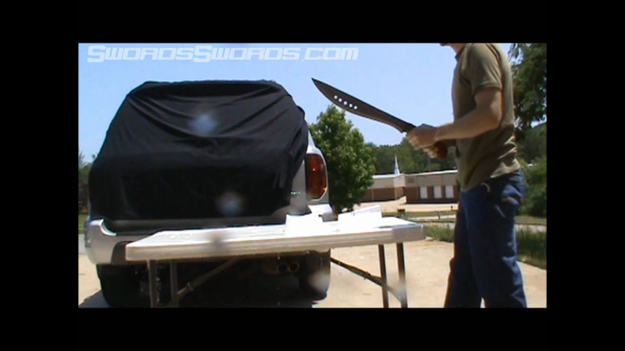 Swordsswords The Book of Eli Sword Large Cutting Test.wmv