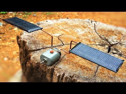 Free Energy 100% , How Make Solar Using DC Motors Generator With Light Bulb thumbnail