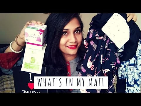 What's in my Mail | Menstural cup, clothing, lipsticks and more | Nidhi Katiyar