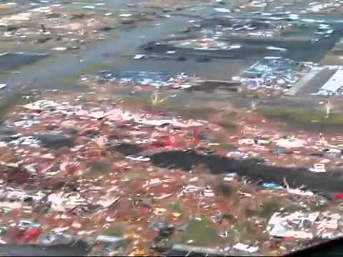 Joplin, Missouri tornado damage from the air