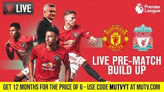 Manchester United v Liverpool - MUTV Pre-Match Build Up 15:00 (BST) | Half Price Subscription Offer