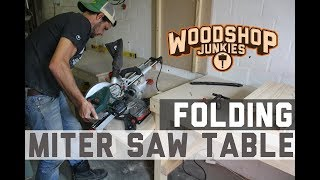 Build a DIY folding miter saw stand/station to optimize a small workshop