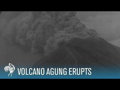 Active Volcano Mount Agung Erupts  (1963)