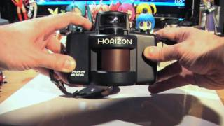 panoramic camera Zenit Horizon 202 and panoramic photos