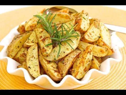 Картошка запеченная в духовке. Быстро и вкусно.