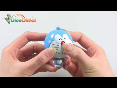 Cartoon Doraemon Shape Retractable Tape Measure Ruler Keychain 3 Pack - dinodirect