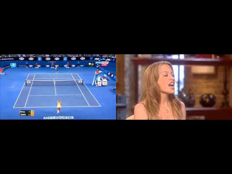 Sharapova, Venus Williams, Kylie Minogue - Locomotion (Australian Open, Melbourne, 2013-01-18)