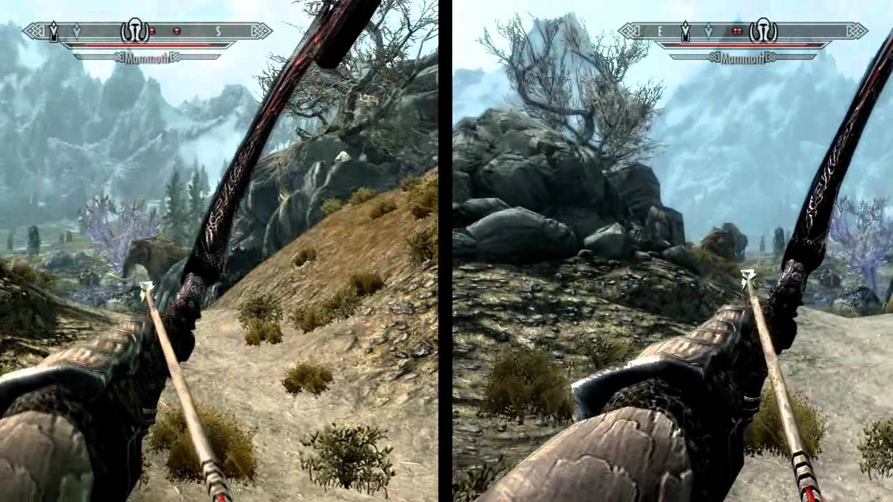 The Elder Scrolls V Skyrim compare graphic with the new update ...