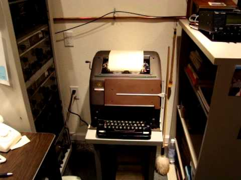 RTTY TELETYPE MODEL 15 JUST WATCH, LISTEN AND ENJOY