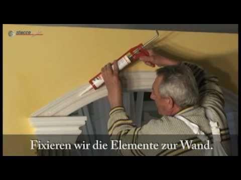 dekoideen f r die passage zwischen zwei r umen mit styropor stuckleisten styropor stuck youtube. Black Bedroom Furniture Sets. Home Design Ideas