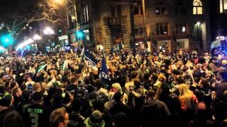 Seahawks Champions Super Bowl XLVIII Downtown Seattle Celebration