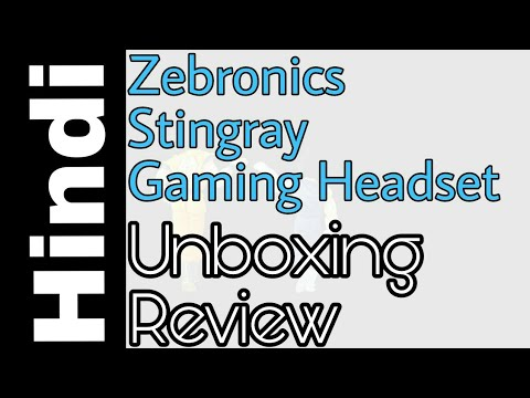 Unboxing & Review: Zebronics Gaming Headphones with Mic Stingray under 500 - Hindi