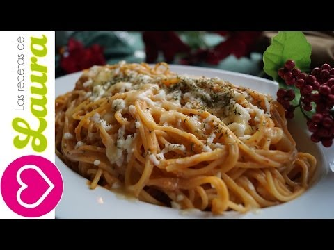 Espagueti al chipotle♥Chipotle Spaghetti Recipe♥Recetas de Navidad♥ Christmas Side Dish