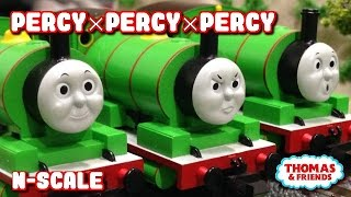 "Thomas and friends ""Percy×Percy×Percy"" トーマス nゲージ パーシーとパーシーとパーシー"