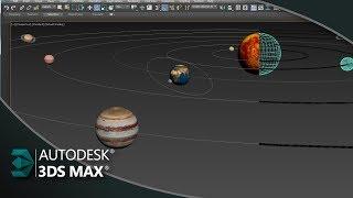 Como Criar Animação do Sistema Solar com Select And Link 3ds Max