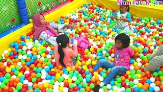 Mainan Anak Mandi Bola Mini Indoor Playground Permainan Naik Odong Odong Mobil Mobilan