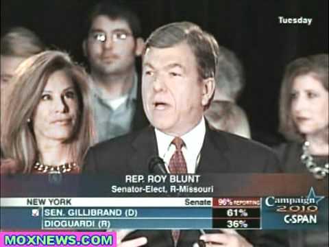 Congressman Roy Blunt Victory Speech For Missouri Race