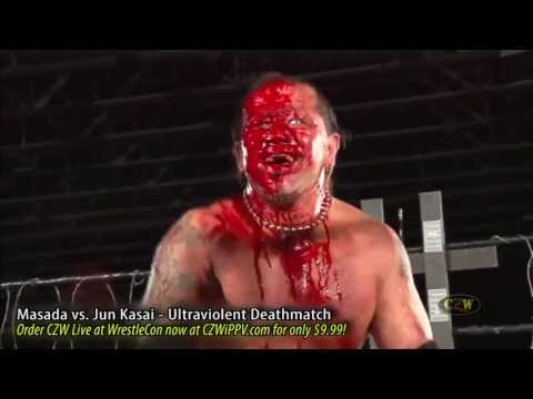 CZW [Preview] Jun Kasai Lands Face First on a Gusset Plate Board (StreamCZW.com)