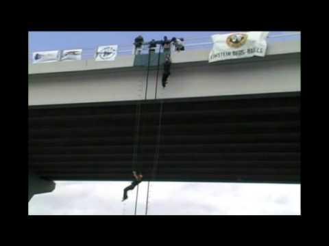 Navy SEAL Museum Bridge Challenge Vero Beach Florida - Competitor Falls