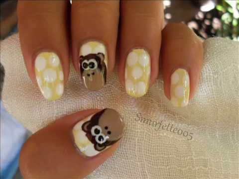 Monkey nails - tutorial