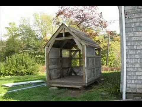 Making A Shed Out Of Scrap Youtube
