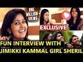 Jimikki Kammal Girl Sheril Fun Interview   at last special dance performance by sheril