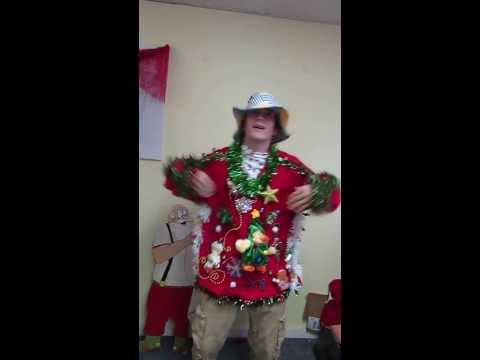 Singing Chicken Dance Animated Dancing Chicken Ugly Christmas Sweater For Sale video