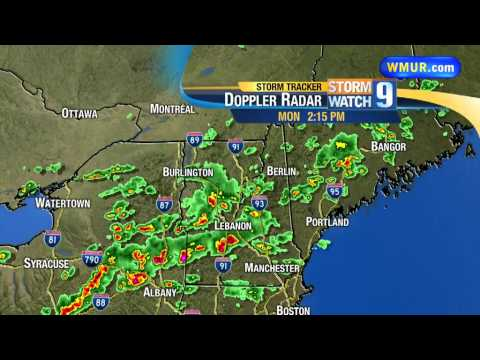 Strong storms moving through NH