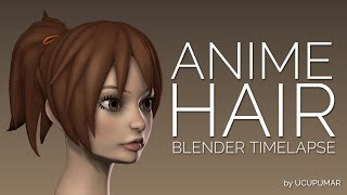 Anime Hair - Blender Timelapse