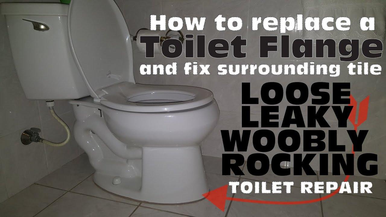 Fixing toilet to tiled floor
