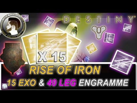 Destiny | 15 Exo & 40 Legendäre Engramme | RISE OF IRON - deutsch/HD