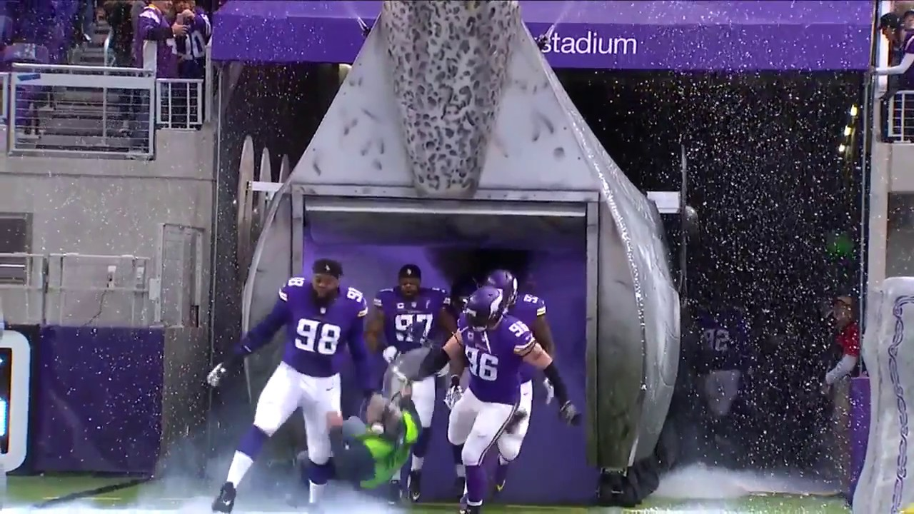 [Sound Guy Chooses The Wrong Way At A Vikings Game] Video