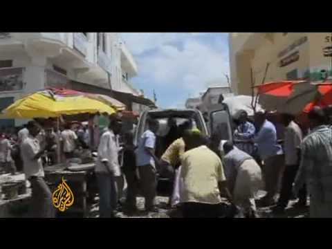 Deadly blasts hit Somalia mosque Video