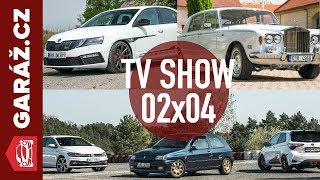 GARÁŽ.cz 02x04 - Octavia BSR 301, RR Silver Shadow, Clio Williams+Yaris GRMN+Polo GTI a Mercedes A