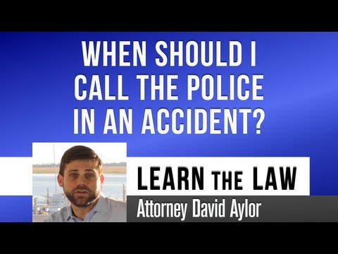 Should I Call Police in an Accident? | Charleston SC Accident Lawyer | Charleston Accident Attorney
