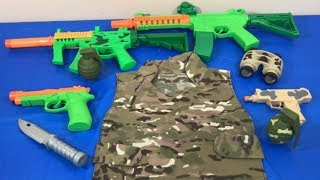 Box of Toys Toy Guns Toy Weapons Military Toys Kids Fun