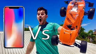 DODGING IPHONE X with RC CARS!!