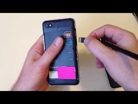 Blackberry Z30 Remove Back cover plate / Sim Card / Micro SD memory Card insert